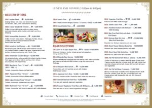 CB Bank Lunch and Dinner Takeaway Menu